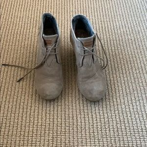 TOMS - Booties - 9 - Gray/Taupe